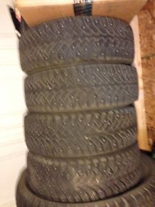 Nokian Nordman Studded Winter Snow Tires 185 60 R14 14""