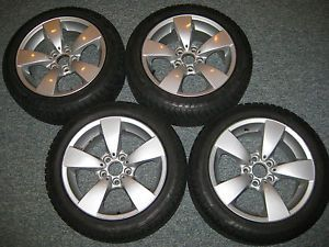 "BMW E60 17"" 138 Spider Spoke Wheels Dunlop SP M3 225 50R17 Winter Snow Tires"
