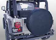 "12802 35 Rugged Ridge Spare Tire Cover 30"" 32"" Black Jeep CJ Wrangler YJ TJ"