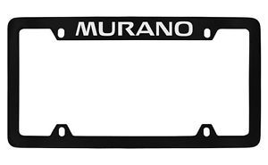 Nissan Murano Black Coated Metal Top Engraved License Plate Frame Holder
