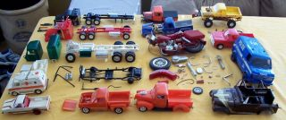 Huge Old Model Junk Yard Lot Trucks Motorcycle Vans Semi's Jeep Parts 1960'S