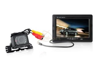 "7"" TFT LCD Color Monitor Car Rear View Video Back Up Camera Night Vision"