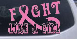 Fight Like A Girl Breast Cancer Car Truck Window Laptop Decal Sticker Pink 6in