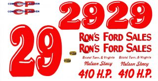 29 Nelson Stacy Ron's Ford Sales 1 64th HO Waterslide Scale Slot Car Decals