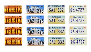 1 25 Scale Model Car Kansas License Tag Plates