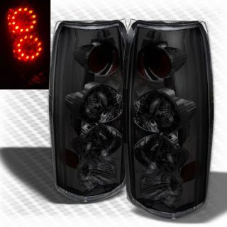 Smoked 88 98 Yukon Suburban Tahoe Sierra LED Tail Lights Brake Smoke Lamp Set