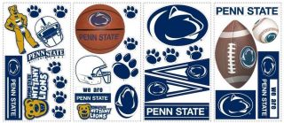 Penn State Nittany Lions Sports Football Dorm Wall Laptop Car Decals Logos New
