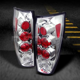 02 06 Chevy Avalanche Z71 LS Lt Chrome Clear Tail Lights Brake Lamps Pair Set