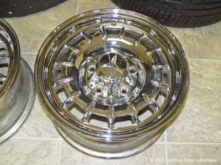 Mercedes Benz Chrome Wheels Rims 6 5 x 14 Factory ET30 6 1 2 380 450 SL Sel SLC