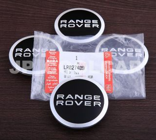 X4 Genuine Land Rover Wheel Center Caps Range Rover Evoque Discovery Freelander