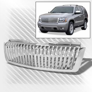 07 14 Chevy Suburban Tahoe Avalanche Chrome Sport Grille Replacement Grill Set