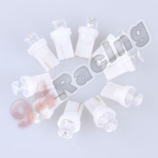 10x T10 Car Bulbs 194 168 W5W White LED Light Lamp Wedge Inverted Side