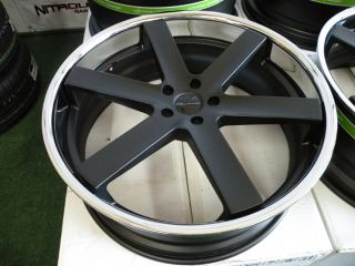 "24"" Giovanna Verona Wheels Matte Black Chevy Camaro SS RS LS Chevrolet Lip"