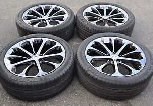 "20"" Ford Taurus Sho Black Chrome Wheels Rims Tires 2013 2014 3927"