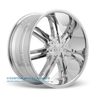 "22"" Borghini B14 Chrome Rims for Chrysler Chevrolet Dodge Ford Wheels"