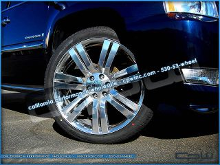 "24"" inch Cadillac Escalade High Polish Wheels GMC Chevrolet Rims New"