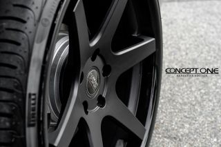 "20"" Honda Accord Coupe Concept One CS6 6 0 Concave Black Staggered Wheels Rims"