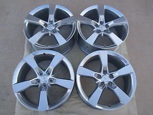 "Set of 4 2010 2012 20""GM Factory Polished Camaro Wheels RS SS"