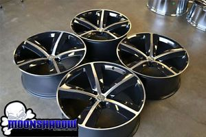 "22"" 5 Spoke Black Dodge Charger Challenger Chrysler 300 SRT8 Wheels Rims 22x9 5"