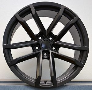20x10 20x11 Set 4 Satin Black Style 41 ZL1 Fits All 2010 Up Camaro Wheels Rims