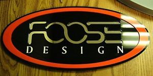 FOOSE 3D Sign Car Showroom Roadster Ford Wheels Design Hot Rod Collector Custom