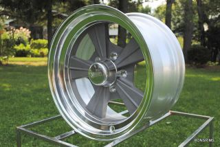 "15 x 8 Rocket ""Strike"" Hot Rod Mag Chevy Ford Wheels as Cast Gasser"