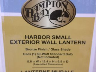 Hampton Bay Harbor Small Exterior Wall Bronze Lantern Light 317806