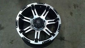 "18"" Granite Alloy GA11 Vrock Overdrive Black Machined Wheel 18x9 6x5 5 30mm"