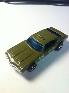 1976 Red Line Hot Wheels Olive Staff Car RARE Car Excellent Condition