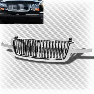 2002 2006 Chevy Avalanche Chrome Front Sport Grille Replacement Grill Set