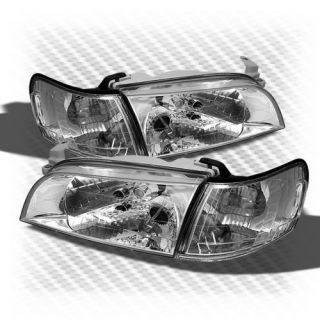 1993 1997 Toyota Corolla Euro Crystal Headlights Clear Head Lights Pair New Set