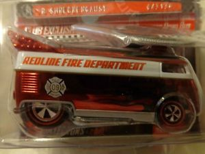 Hot Wheels 2009 Club Car VW Drag Bus Redline Fire Department