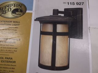 Hampton Bay Craftsman Wall Mount Exterior Wall Bronze Lantern Light 115927