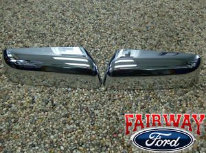 2009 thru 2014 F 150 F150 Genuine Ford Parts Chrome Mirror Cover Kit 2 PC