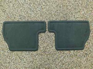 2012 2013 Focus Genuine Ford Parts Charcoal Black Rear Floor Mat Set 2 PC