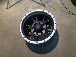 "17"" Granite Alloy GA9 Black Machined Wheel 17x10 8x6 5 25mm Lift Required 8 Lug"