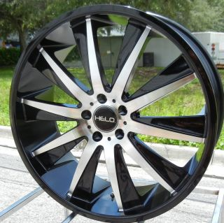 "20"" Black Helo 851 Wheels Rim Honda Accord Ford Edge Nitro Taurus Sho Amanti TSX"