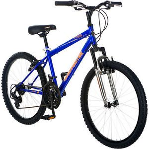 "Roadmaster Granite Peak 24"" Mountain Bike 18 Speed Alloy Wheels Bicycle R3012WM"