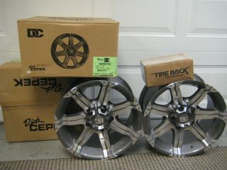 Set of 4 Dick Cepek DC Gun Metal 7 Gray Wheels 90000001393 New in Boxes