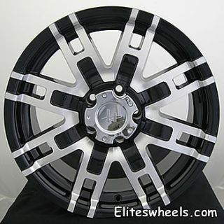 20x9 Black Helo HE835 Wheels 5x5 5 18 Chrysler Aspen Dodge RAM 1500