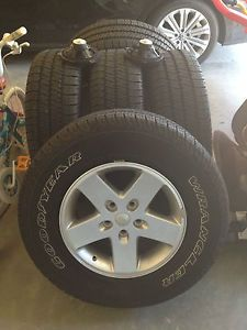 Jeep Wrangler Wheels and Tires New Mopar Rims Goodyear Wrangler Tires