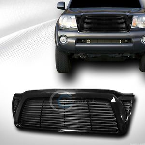 Blk Horizontal Front Hood Bumper Grill Grille ABS 2005 2010 Toyota Tacoma Truck