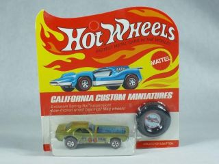 Hot Wheels Redline True Yellow Bye Focal in Unpunched BP Blisterpack RARE