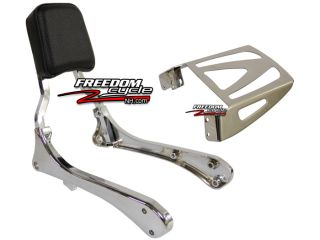 Suzuki S40 s 40 Boulevard Blvd Backrest Back Rest Sissy Bar Rear Rack Chrome