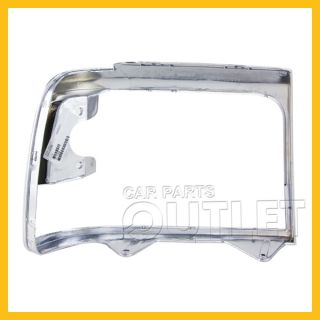 1992 1996 Ford F150 Bronco Driver Head Light Door Bezel for F2TZ13064D Chrome LH