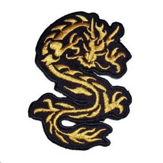 SK A99 Dragon Iron on Patch Embroidered Cloth T Shirt Accessories Car Motorcycle