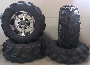 "ITP SS112 14"" Wheels Machined 28"" Zilla Tires Polaris Sportsman XP 550 850"
