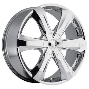 20 inch 20x7 5 Dolce DC34 Chrome Wheels Rims 5x4 5 Outlander Eclipse Maxima Vibe