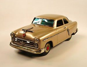 1952 Ford 2 Door Sedan Japanese Tin Car by Marusan Kosuge