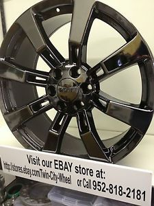 22 inch Black Chrome PVD Chevrolet Silverado OE Factory Wheels GM Accessory 22x9